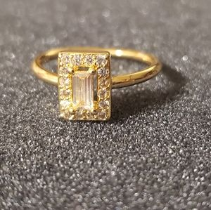 Delicate gold filled Sterling silver 925 cz ring